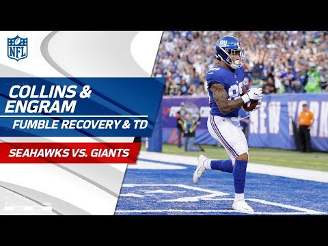 Landon Collins' Crazy Fumble Recovery Sets Up Evan Engram's TD! | Seahawks vs. Giants | NFL Wk 7