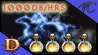 Diablo 3 / 1000 + DEATHS BREATH per hour / Crusader speed build ( gameplay / commentary )
