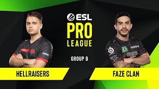 CS:GO - FaZe Clan vs. HellRaisers [Dust2] Map 2 - Group B - ESL EU Pro League Season 10