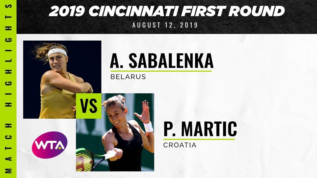 Aryna Sabalenka vs. Petra Martic | 2019 Western & Southern Open First Round | WTA Highlights