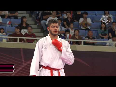 Mehdi Filali (FRA) Vs Sajad Ganjzadeh (INI) +84kg. Tokyo Karate1Premier League 2019 Bronze Medals
