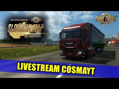 LIVESTREAM - SLOVAKIA MAP Euro Truck Simulator 2!