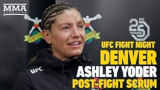 UFC Denver: Ashley Yoder Emotional Longtime Coach Missed First UFC Win - MMA Fighting