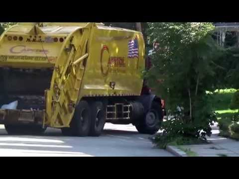 Capitol Waste Services - Brighton( Boston)  Trash Collection Mack MR McNeilus rear loader