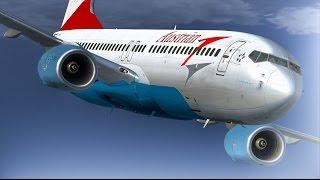 737-800 Austrian, Eindhoven to Salzburg FULL FLIGHT (FSX) [HD]