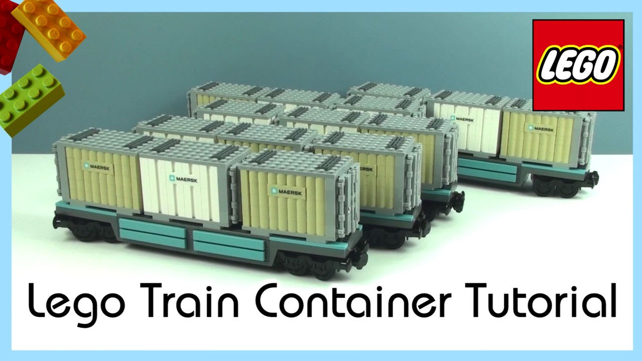 Tutorial - Custom Lego Maersk Train Containers - YouTube