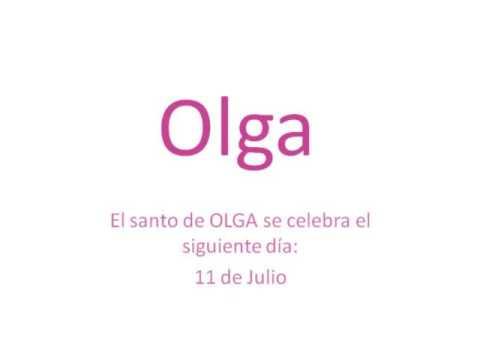 Origen y significado del nombre Olga