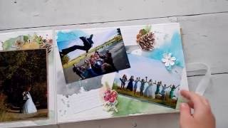 Свадебный скрап альбом в переплете
