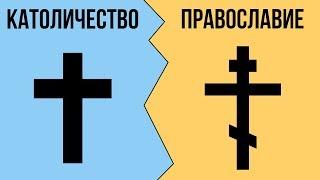 В чем разница между КАТОЛИЧЕСТВОМ и ПРАВОСЛАВИЕМ ?