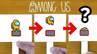AMONG US Vent FUNNY PAPER CRAFT & ARTS|POP-UP CARD Tutorial #03