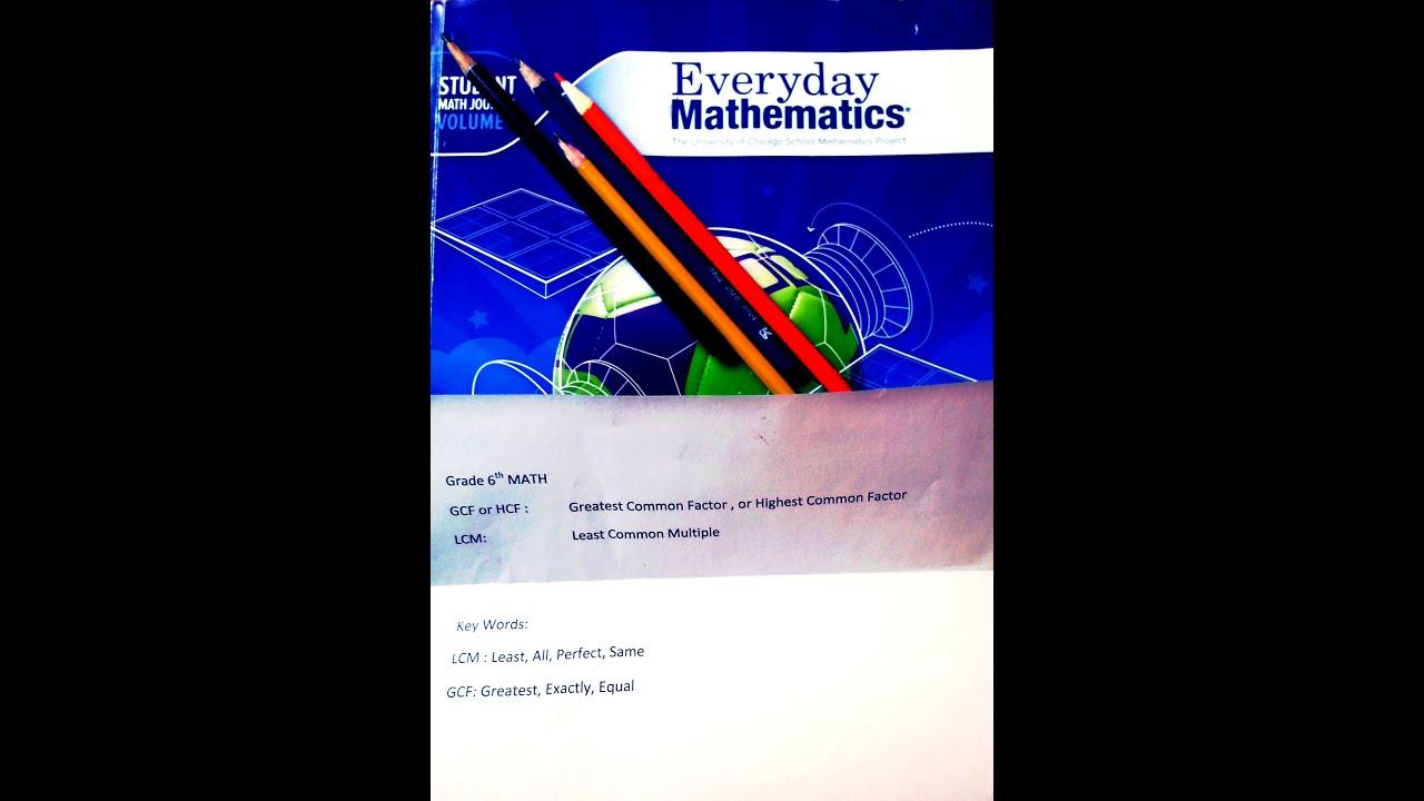 Lcm Gcf Hcf Basic Problems Grade 6th Math Prime Maths East Brunswick Middle School Tutorial
