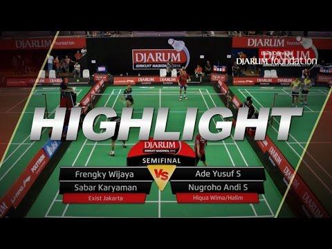 Frengky W/Sabar K (Exist Jakarta) VS Ade Yusuf/Nugroho Andi (Hiqua Wima/Halim)