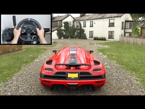 Forza Horizon 4 Koenigsegg Agera (Steering Wheel + Paddle Shifter) Gameplay