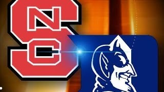 #2 Duke at NC State - January 11, 2015 - Game Highlights