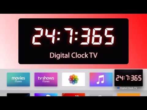 Digital Clock TV for Apple TV (tvos) App Preview