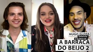 "Hugo Gloss entrevista Joey King, Joel Courtney e elenco de ""A Barraca do Beijo 2"""