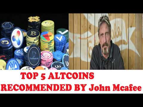 TOP 5 ALTCOINS RECOMMENDED BY JOHN MCAFEE THE TECH GURU