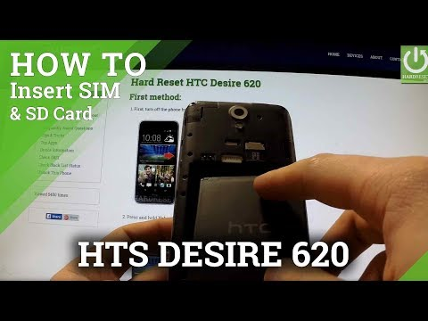 HTC Desire 620 - How to Insert SIM card and Micro SD card