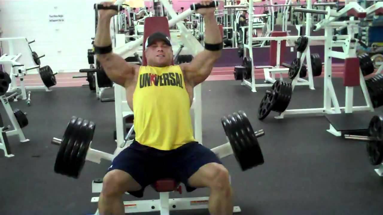 Brad Rowe Plate Loaded Shoulder Press Youtube