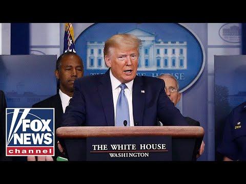 Live: Trump, Coronavirus