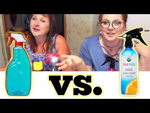 Mom's Cleaning Products vs Eco-Friendly Products | Eco Nuts Glass Cleaner