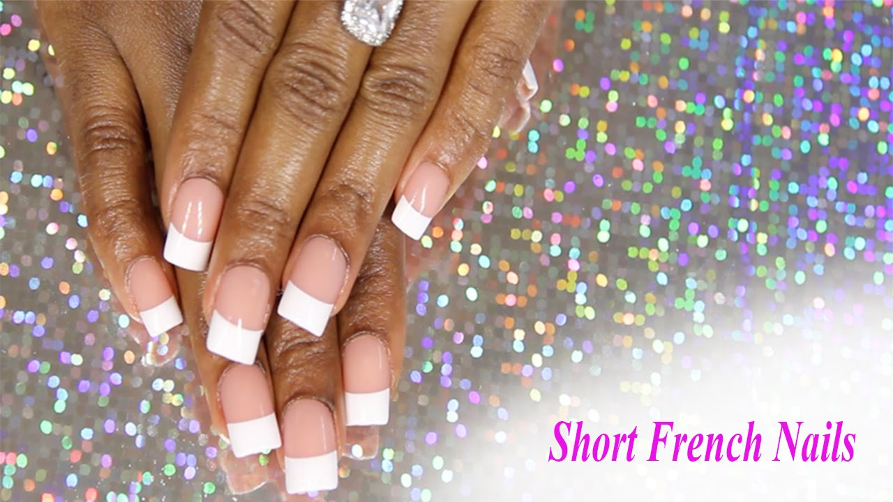 KISS Short French Press on Nails Applied with Acrylic | SAVANNAH ...