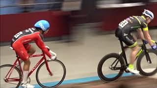 NK Baanwielrennen omnium sprint nieuwelingen 2018 keirin voorronde