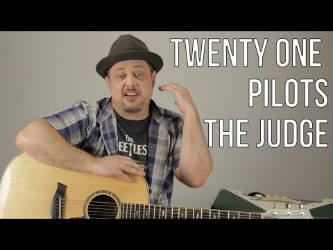 twenty one pilots - The Judge - How to Play on Guitar - Guitar Lesson, Tutorial