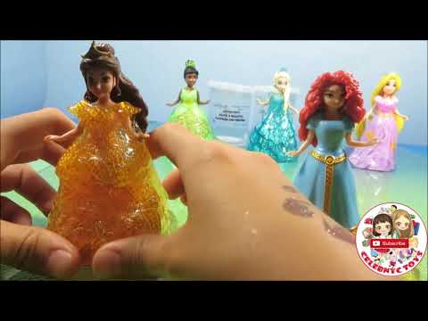 GLITTER PUTTY Disney Princess Magiclip Fun Color Dresses Frozen Elsa Rapunzel Ariel Cinderella Belle