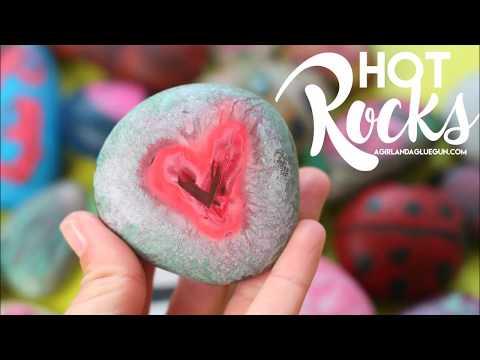 hot rocks kids art activity