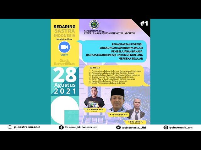 Seminar Nasional Pembelajaran Bahasa dan Sastra Indonesia Tahun 2021 (Seri 1)