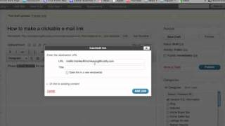 كيفية إنشاء نقر البريد الإلكتروني رابط فيديو تعليمي