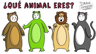 ¿QUÉ ANIMAL ERES? TEST | Draw My Life #tiktaktest