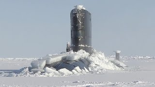 Royal Navy Nuke Sub HMS Trenchant Bursts Through Ice Layer At The North Pole
