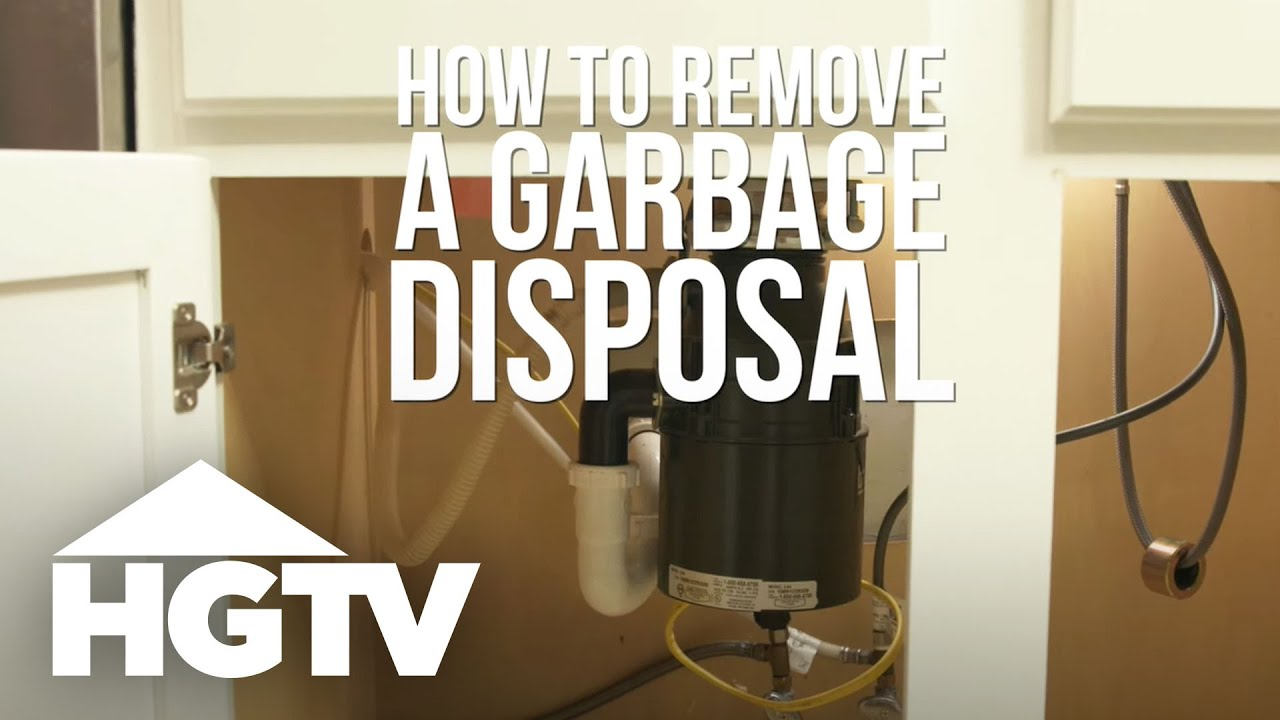 How To Remove A Garbage Disposal Hgtv Youtube