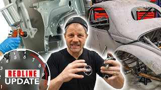 Dirt track race car suspension and Honda CT70 body work | Redline Update #81