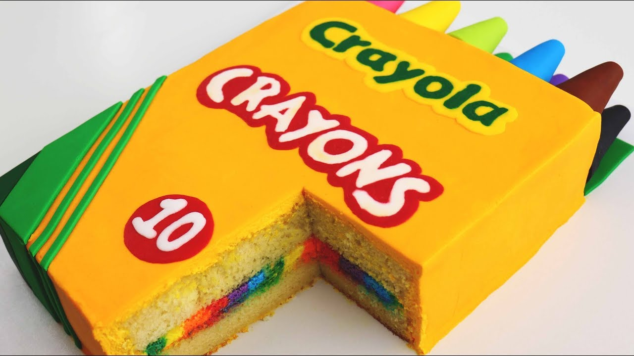 BACK-TO-SCHOOL Crayon Box CAKE! - YouTube