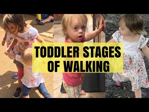 TODDLER Stages of Walking ��♀️Help Delayed Toddlers To Learn How To Walk