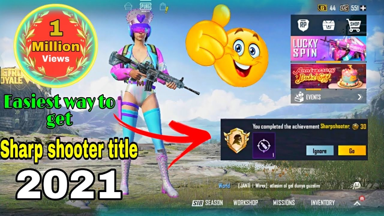 Download #Sharpshooter_title Easiest Method to Get Sharp shooter Title || Tips and tricks Pubg Mobile