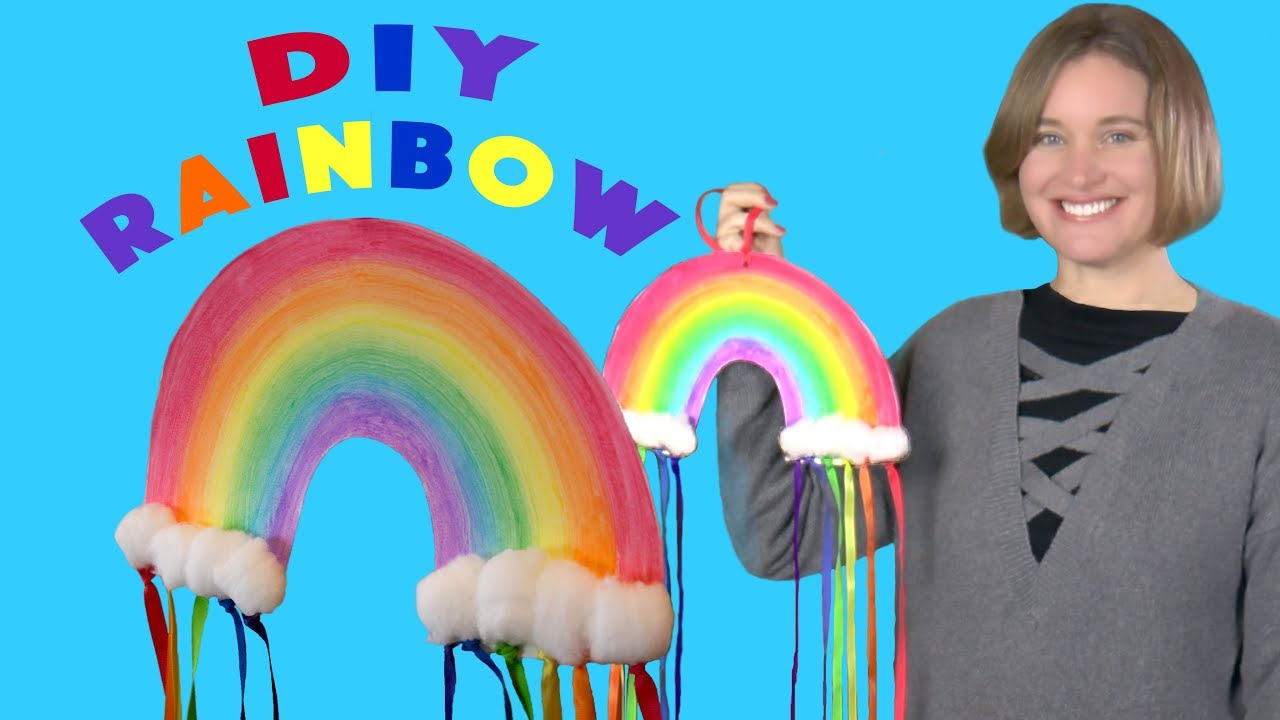 DIY Rainbow Craft | Crafts for Kids - YouTube