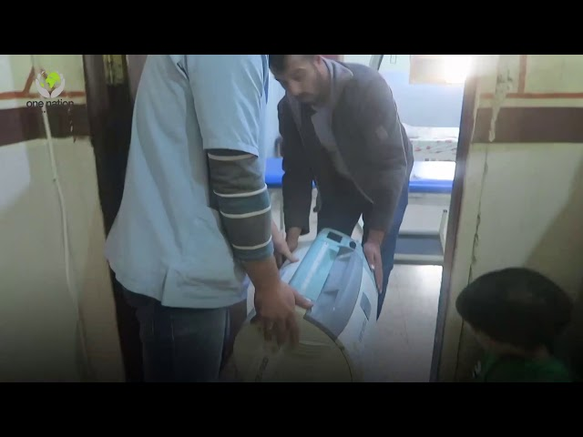 Medical items delivered in Syria