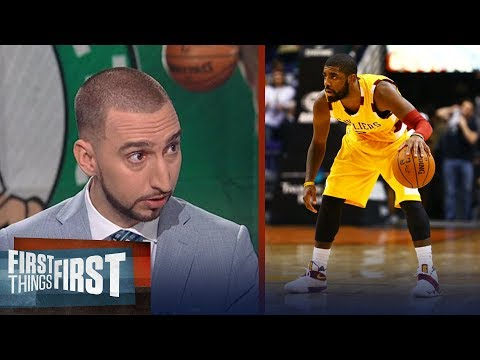 Danny Ainge says Kyrie Irving is a better passer without LeBron - is that true? | FIRST THINGS FIRST