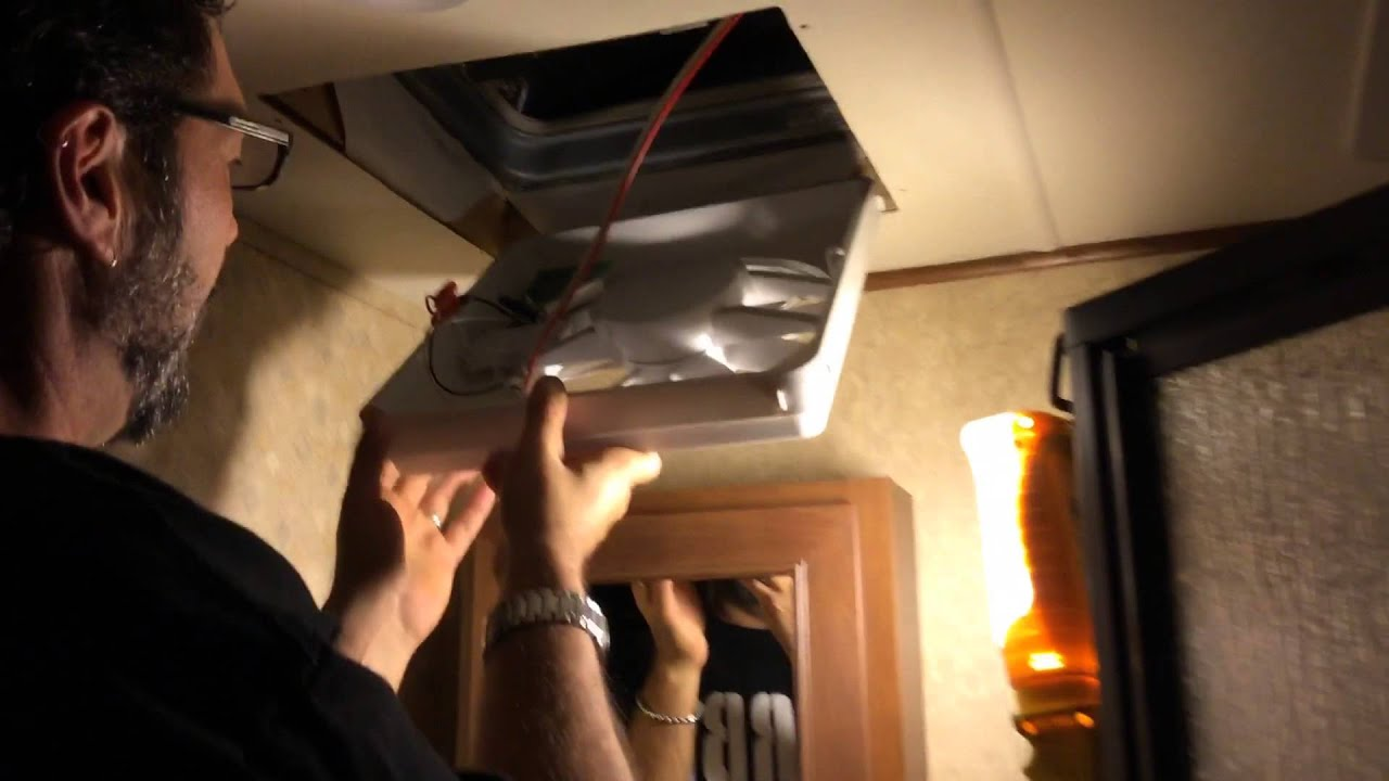 Installing a Vortex II vent fan upgrade in a RV Open Range