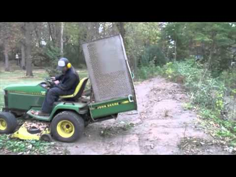 John Deere 445 >> John deere 445 lawn vac - YouTube