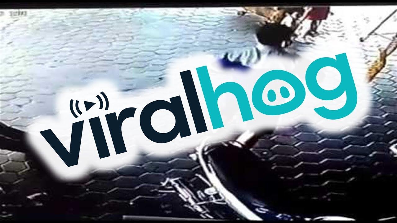Superhero Dad Saves His Children with Lightning Fast Response    ViralHog