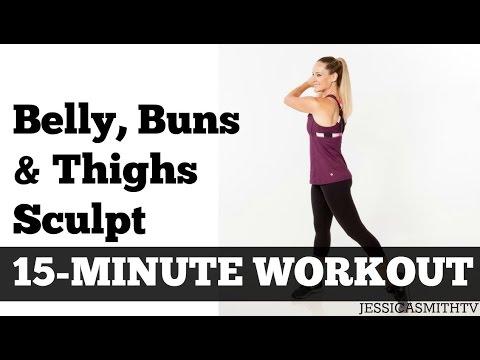 15 Minute Belly Buns + Thighs Sculpt | ...