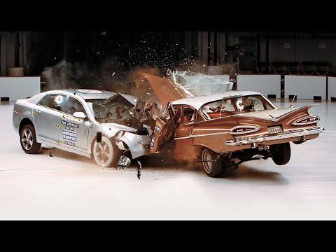 Видео: на краш-тесте столкнули два Chevrolet — 1959 и 2009 годов выпуска
