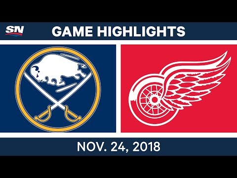 NHL Highlights | Sabres vs. Red Wings – Nov. 24, 2018