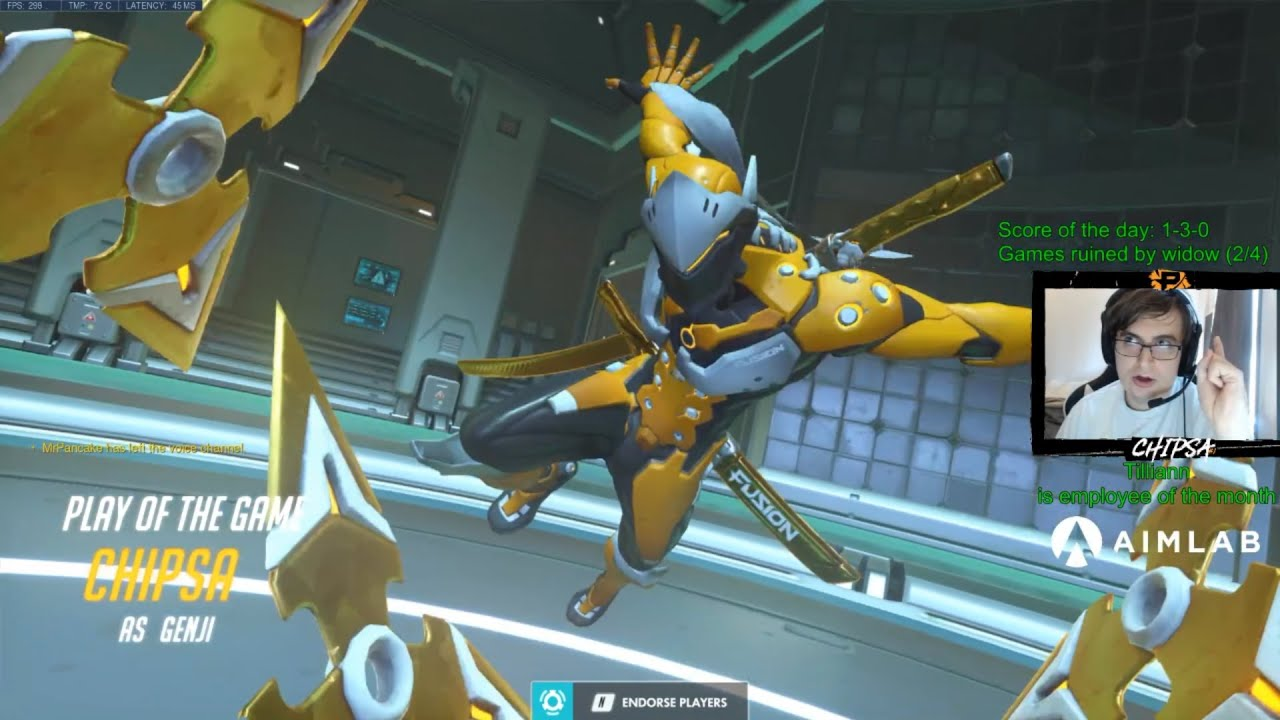 Overwatch League Pro Chipsa Is That A New Genji God Maybe? -POTG-