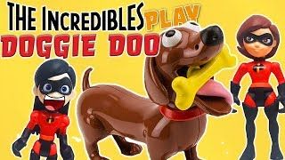 Incredibles 2 Violet and Elastigirl Play Doggy Doo Game! Featuring LOL Surprise Dolls!
